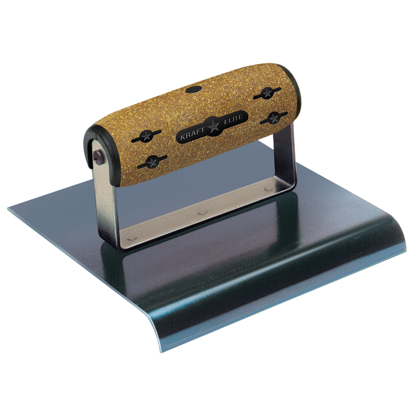 "Picture of 6"" x 3""  1/2""R Elite Series Five Star™ Blue Steel Hand Edger with Cork Handle"