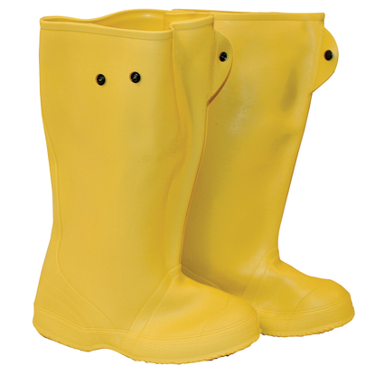 """Picture of 16"""" Yellow Over-The-Shoe Construction Boots - Size 11"""